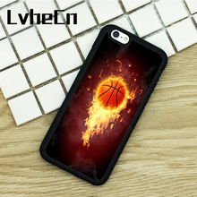 LvheCn TPU Phone Cases For iPhone 6 6S 7 8 Plus X 5 5S 5C SE 4 4S ipod touch 4 5 6 Cover Basketball Net Sport Luxury