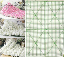 DIY 40*60cm platic flower stand frame Carpet style flower accessories fow wedding Cylindrical decoration DIY Road led flower(China)