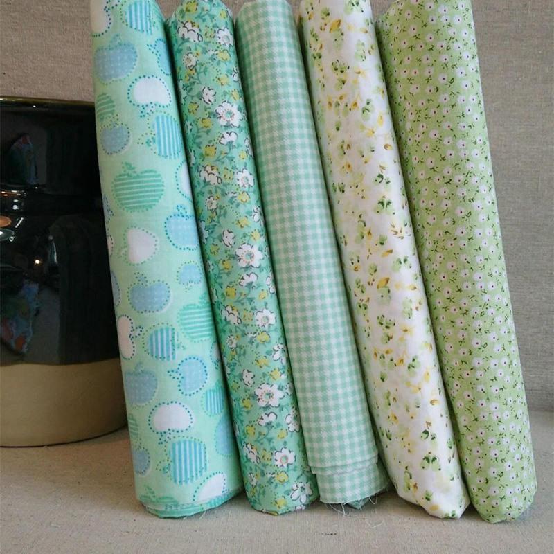 Newly DIY Doll Clothing Cotton Fabric for Patchwork Quilts Cushions Baby Clothes Floral Checked Printing DIY Sewing Cloth(China (Mainland))