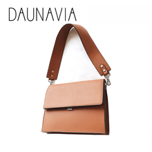 DAUNAVIA fashion small square bag 2017 new trend shoulder bag autumn and winter new women bag wild briefcase lady Messenger bag(China)