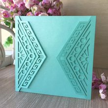 30pcs Lot Chic Tiffany Blue Pearl Paper Wedding Invitations Birthday Party Decorations Event Supplies Gift Card