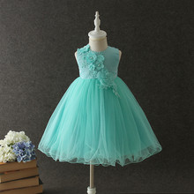 Little Girl Wedding Dress 2017 New Princess Party Dress Fashion High-grade Children Flowers Dress Elegant Cute Kids Clothes