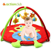 Actionclub Baby Play Mat Infant Music Educational Game Pad Kids Crawling Carpet Plush Duck Toys For Baby 0-12 Months Blanket(China)