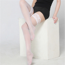 Women ladies fashion casual Leg Avenue Sheer Thin High Stocking lace floral patchwork stockings