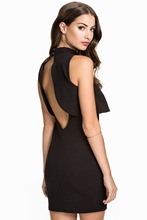 New 2017 Women Backless Dress Party Dress Sexy Dresses Top Overlay High Neck Little Black Dress LC22238 vestidos de fiesta