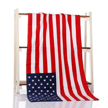 Novelty 70*140cm Cotton Printed UK US Flag Beach Towel Microfiber Soft Towels For Adults Drying Towel Outdoor Accessory