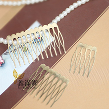 (30 pieces/lot) 5/8/12 fork antique bronze brushed hair combs base setting qy441