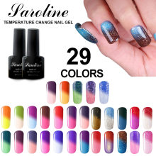 Saroline Temperature Change Nail Art Color UV Gel Nail Polish Soak Off Led Mood Nail Polish Lacquer Chameleon Thermo Gel Varnish