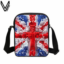 VEEVANV 2017 Multicolor Female Children Girls Messenger Bags Pretty Style Maple Leaf Cross Body Bag UK US CA Flag Flag Bags