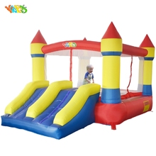 YARD Free Shipping In Stock Dual Slide Bouncy Castle Home Use Inflatables Jumping Area Cute Air Toy For Kids Fun