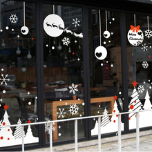 free shipping Large Christmas X mas Wall Window Glass Sticker Decal Home Decor Decoration Covering xmas020