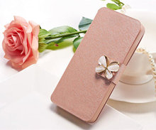 Original Case For Samsung Galaxy Core 2 II Dual SIM G355H SM-G355H Phone Bag Flip Cover Case With Three Kinds Of Diamond