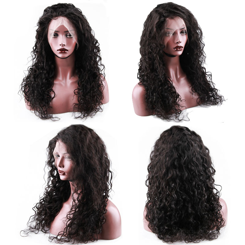 Hot Beauty Hair 360 Lace Frontal Wig Breathalbe Water Wave Wig Pre Pluck With Baby Hair Brazlian Remy 100% Human Hair Lace Wigs (3)
