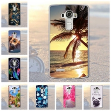Fundas Phone Case Cover For LG G4 H815 H810 H811 VS986 LS991 Soft TPU Silicon Animals Scenery Phone Bags for LG G4 Cover Case(China)