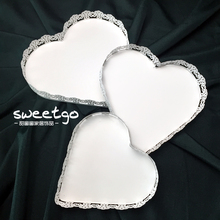 Lace Edge A Snack Disc European Iron Wedding Cake Disc Wedding Candy Disc Dessert Platform Do Compote Peach Disc