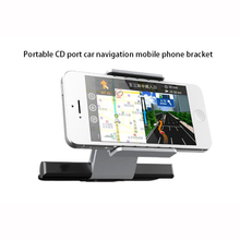 360 Degree Adjustable CD Slot Car Phone Holder Stand for iPhone for Samsung for Xiaomi cellphone Mount Cradle GPS Devices(China)