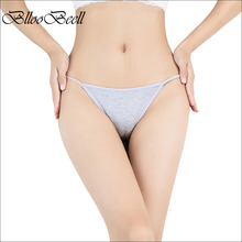 BllooBeell Low Waist Women's Underwear Panties Sexy Modal Briefs Bikini Solid Female Thong Seamless Lady G String Soft Size M/L(China)