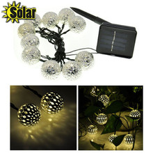 3.5M 10D Durable Moroccan LED Solar String Light Outdoor Festival Wedding Christmas Garden Home Store Deco Lamp Holiday Light