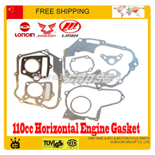 Zongshen lifan YX horizon engine manual clutch dirtbike pitbike paper Engine gasket of 110cc Dirt Pit monkey Bike ATV gasket set(China)