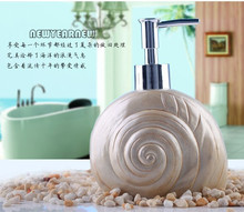 NEWYEARNEW Conch Resin Bottling Hotel soap dispenser Emulsion Bottle Creative Bathroom Accessories Set Home Decoration Gift(China)