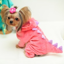 New 2016 Fall And Winter Clothes Pet Dog Sweater Small Coat Winter Dinosaur Pet Clothes Clothing Free Shipping