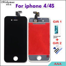 Mobymax AAA Quality LCD Screen For iPhone 4/4s Display Digitizer Assembly Replacement Pantalla Black/White Module Ecan Repair