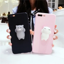 Phone Case For Oppo F3 A39 A57 Cute Cat Kitty Rabbit Squeeze Lovely Pressure Reduce Case For Oppo F3 F1 plus F1S Squishy Covers