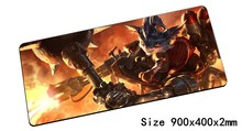 Rumble mouse pad 900x400mm pad mouse lol notbook computer mousepad Mechanized Menace gaming padmouse gamer laptop mouse mats(China)