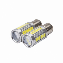 2pcs 33smd 5630 5730 led 1156 BA15S P21W Car Tail Bulb Brake Lights auto Reverse Lamp Daytime Running Light red white yellow 2X