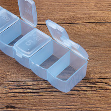 1 pcs 7 Day Mini Weekly Medicine Box Holder Organizer Container Pill Cases New Color Random(China)