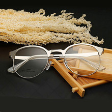 Vintage Fashion Glass Frame Clear Lens Brand Designer Metal Anti UV Eyeglasses Frame Women Man Eyewear gafas oculos de grau