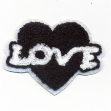 The Black Love Heart Towel Handwork Patches Sew On Fabric Sticker For Clothes Patch Badge Embroidered DIY 2017 New Fashion