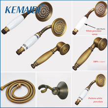 KEMAIDI Brass And Plastic Ceramic Handle Shower Rain Spray Shower Water Saving Shower Head For Bathroom Accessories in Home(China)