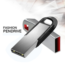 Hot USB Flash Drive Disk 16G 32G 64G 128G USB Metal Pen Drive Pendrive 4gb Memory Stick Storage Device free shipping(China)