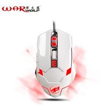 WarWolf 2.4GHz Gaming Mouse with 3200DPI 6 Button USB Receiver For PC Laptop Computer Gamer With Macro Programming Function(China)