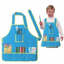 New Cute Kids Child Children Waterproof Apron Solid Printed Painting Cooking Cleaning Baking Outdoor Garden Play Costume Aprons