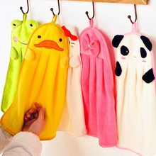Lovely Cartoon Towel Children Microfiber Hand Cotton Dry Towel For Kids Soft Plush Fabric Hang Towel Kitchen Bathroom Use