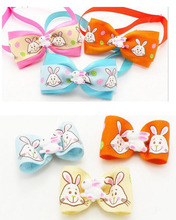 40pcs Easter Bowties bows combo Cute Rabbit Pet Dog Neckties Ribbon Bow Ties Pet Ties Collar Accessories Easter Holiday