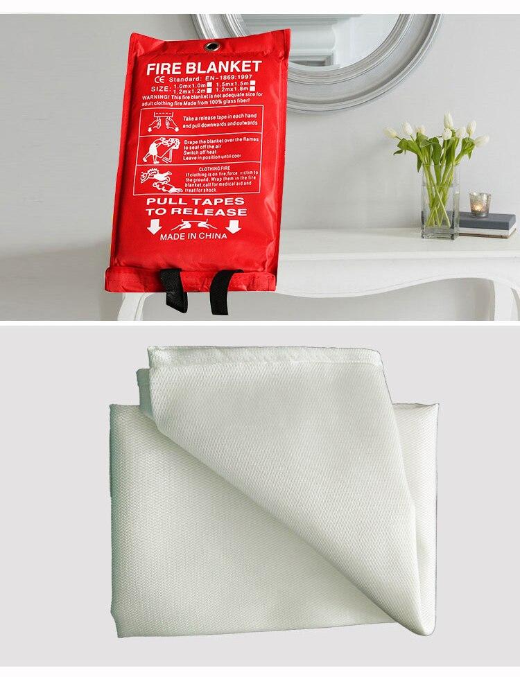 1Pc Heat Fire Resistant Fiberglass Welding Fireproofing Blanket Protective Cover