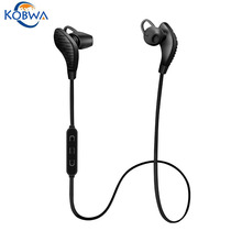 Kobwa Blue Tooth Headphones HD Stereo Wireless Bluetooth Sports Earphone Noise Canceling V4.1 Headset With Super Playing Time(China)