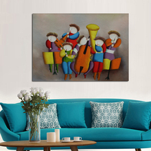New Modern Design Decorative Oil Paintings Art Pictures High Quality Concert Wall Stickers On Canvas for Home Decor(China)
