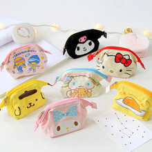 Cute Sanrio My melody Hello Kitty Gemini Kuromi Girl Kids Doll Coin Purse Cartoon Storage Package For Gifts(China)