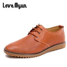 High Quality Men Fashion cow leather Shoes plus Big Size Summer Men Breathable Casual Shoes Male Flats sneaker shoes 47 KK-43
