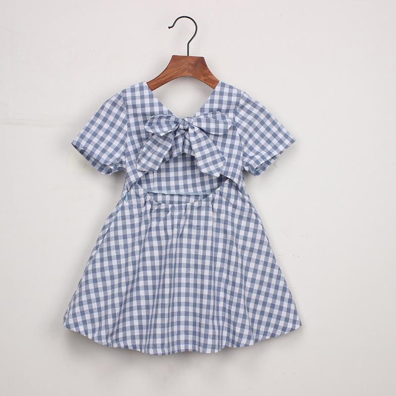 filles robes 2019 été Style enfants princesse robe enfants vêtements demi manches décontracté motif conception filles vêtements