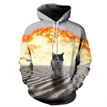 Fashion Men/Women Hoodies Cap Hooded 3d Sweatshirts Print Meow Stars Cat Hoody Tracksuit Pullovers Plus Size Tops for Lovers