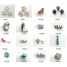 10pcs Wholesale Mix Styles Charming Alloy Charms Floating Charms For Floating Memory Living Lockets Christmas Charms