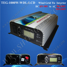 pure sine wave 45-90v dc to ac 100v 110v 120v wind tie grid inverter 1kw