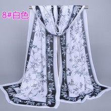 High quality women's fashion flower printed scarves elephant sunscreen shawl scarf scarves 160 * 50 cm Free Shipping