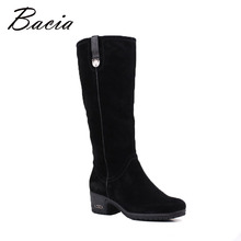 Buy Bacia 2016 New Sheep Suede Boots Knee-high Black Boots Wool Fur Winter Women Warm Snow Boots Genuine Leather Zip Shoes VF007 for $109.29 in AliExpress store