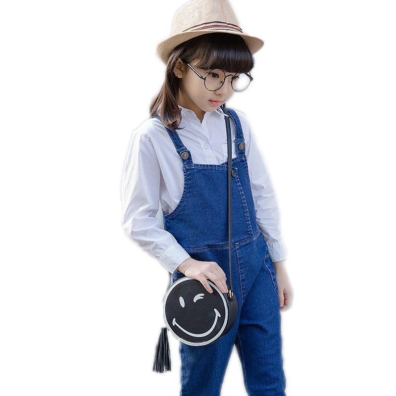 childrens clothing set 2017 spring girls clothing sets top letter printed solid white blouse+denim overall kids clothing sets<br><br>Aliexpress